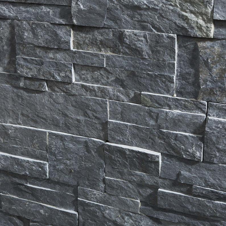 plaquette de parement pierre naturelle gris elegance. Black Bedroom Furniture Sets. Home Design Ideas