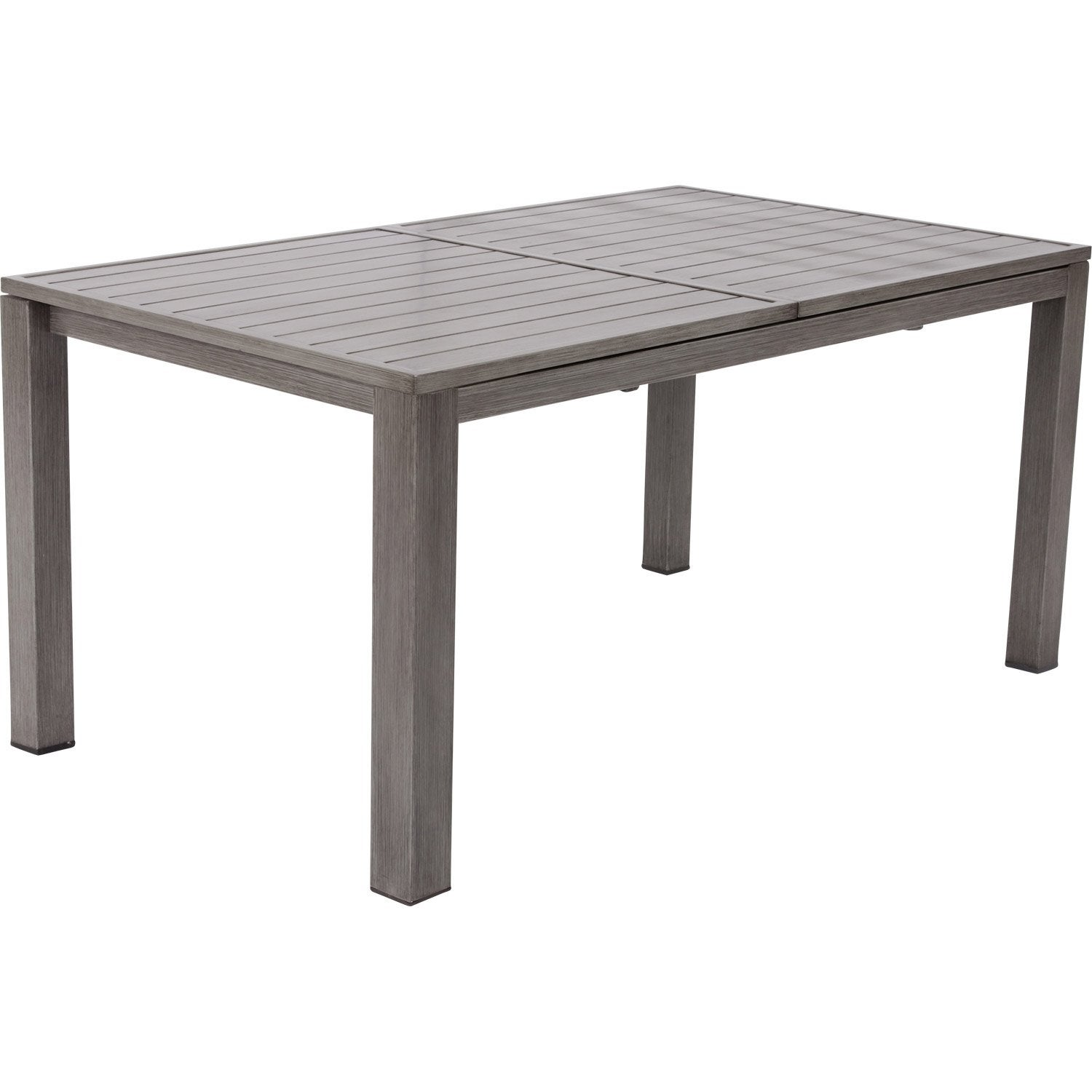 Table de jardin naterial antibes rectangulaire gris 6 8 - Table a rallonge pour 16 personnes ...