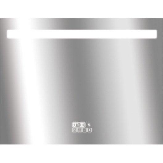 Miroir lumineux de salle de bains miroir de salle de for Miroir 70x90