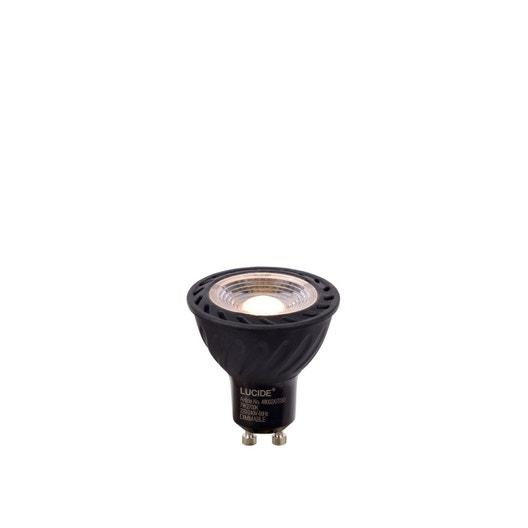 ampoule led 4 5w 340 lumens quiv 35w gu10 noire compatible variateur leroy merlin. Black Bedroom Furniture Sets. Home Design Ideas