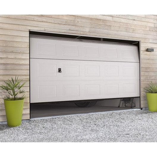 Porte de garage sectionnelle motoris e hormann x l - Porte de garage sectionnelle 300 x 200 ...