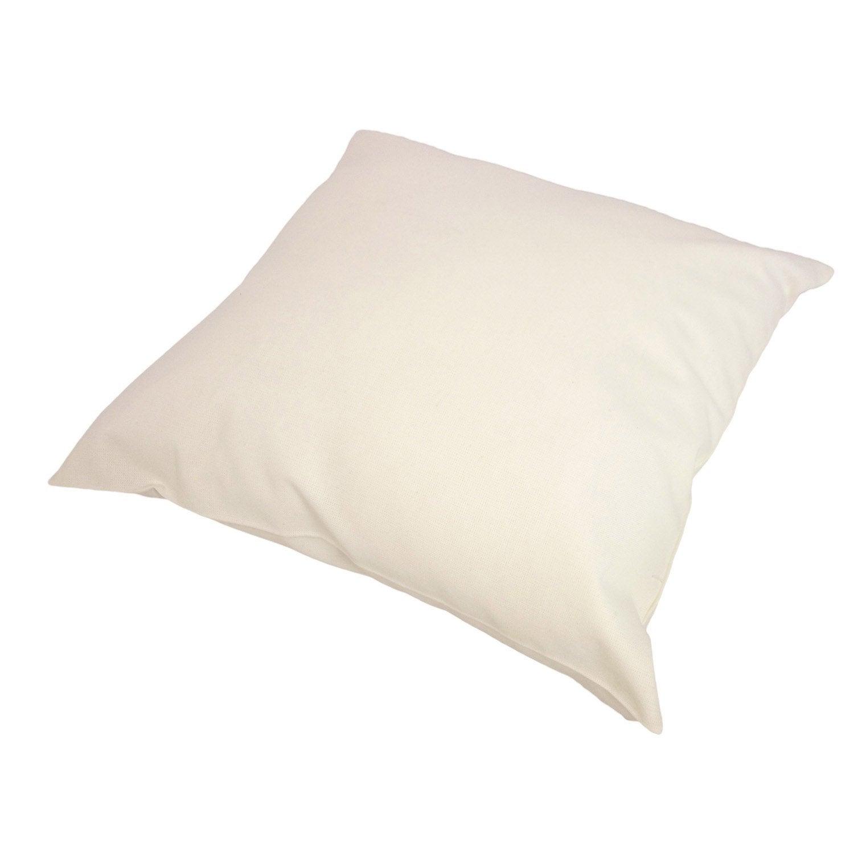 Coussin Sunny INSPIRE, blanc coton l.40 x H.40 cm
