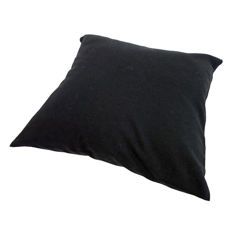Coussin d'assise de chaise ou fauteuil Sunny INSPIRE, noir-noir l.40 x H.40 cm