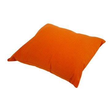 Coussin Sunny INSPIRE, orange potiron l.40 x H.40 cm