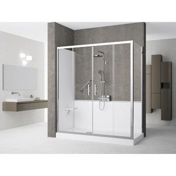 remplacer sa baignoire par une douche au meilleur prix. Black Bedroom Furniture Sets. Home Design Ideas