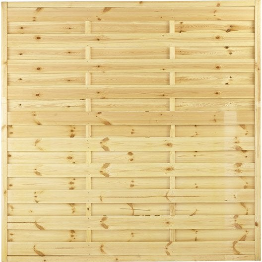 Panneau bois occultant Lucas, l.180 x H.180 cm, naturel
