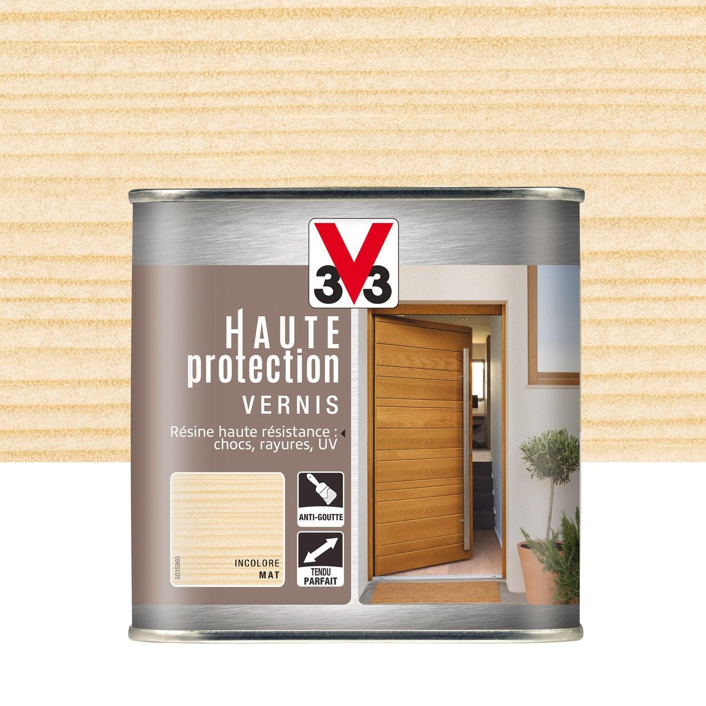 vernis v33 haute protection l incolore leroy merlin. Black Bedroom Furniture Sets. Home Design Ideas
