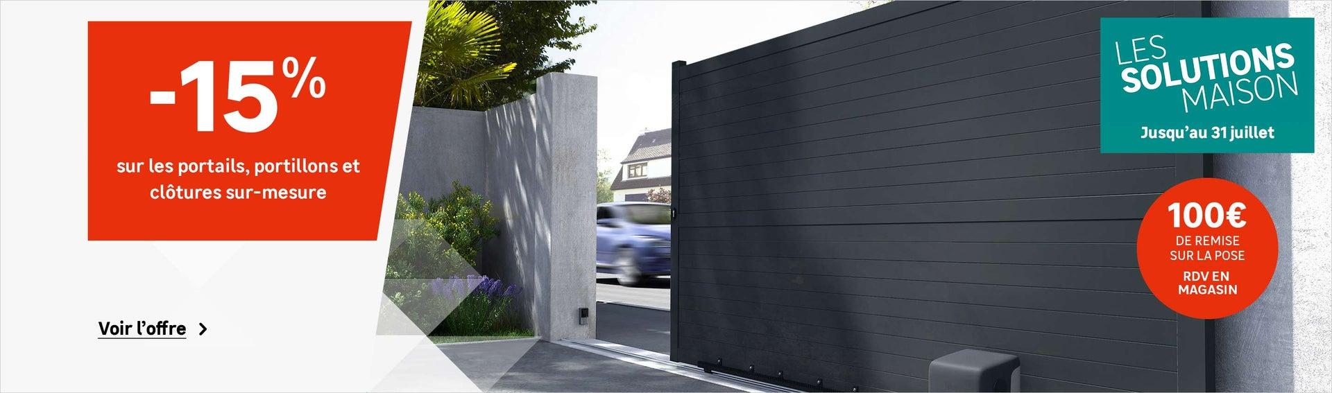 portail coulissant et battant portail bois alu leroy merlin. Black Bedroom Furniture Sets. Home Design Ideas