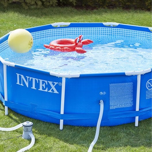 Piscine piscine hors sol gonflable tubulaire leroy for Piscine gonflable intex ronde