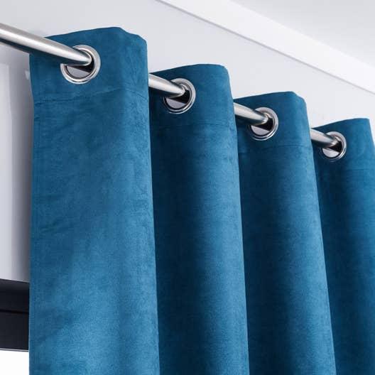 Rideau tamisant manchester bleu x cm inspire leroy merlin - Rideau occultant bleu canard ...