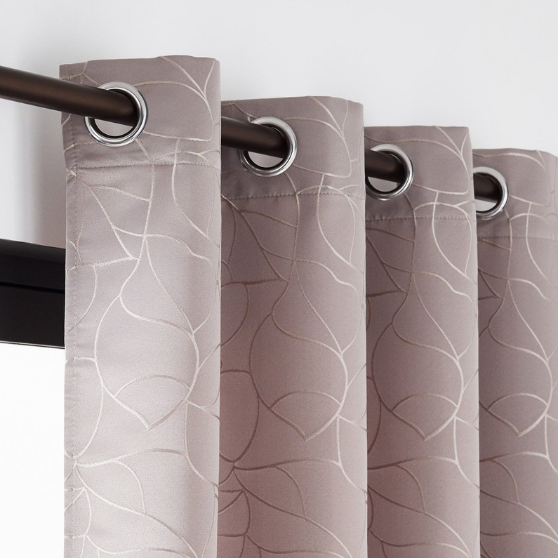 Rideau Tamisant Bali Taupe L140 X H260 Cm Inspire