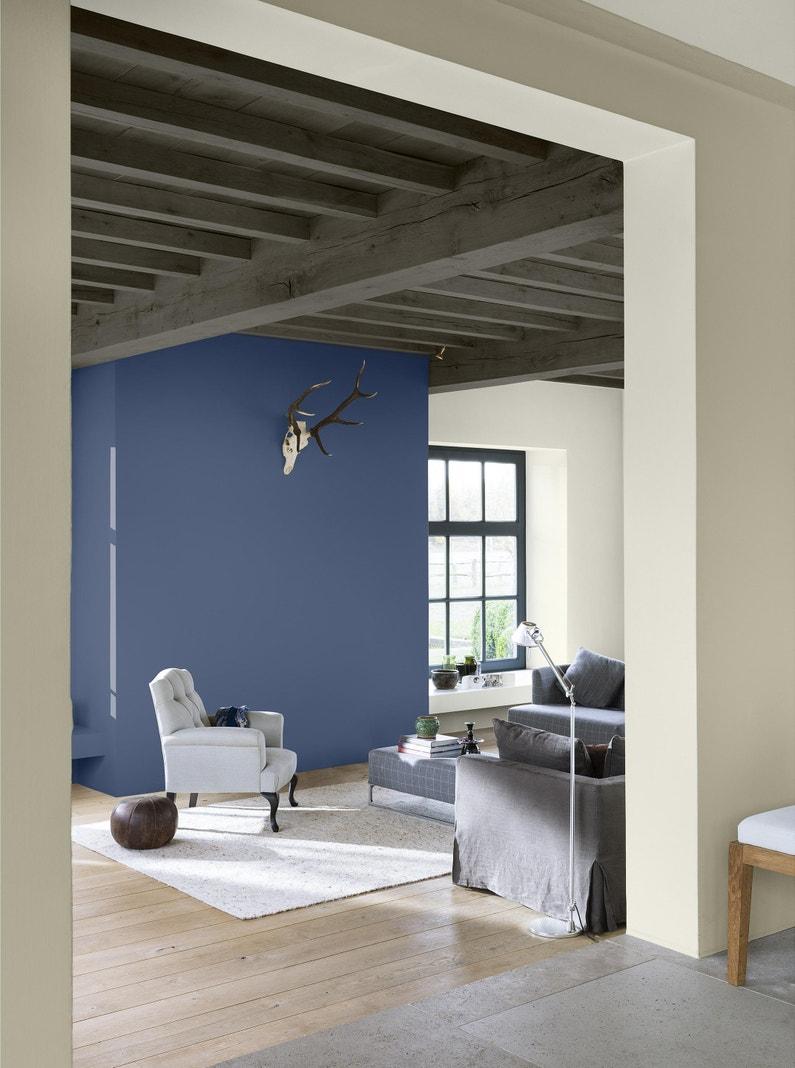 Testeur Peinture Bleu Ardoise Mat Dulux Valentine Crème De Couleur 0 03 L
