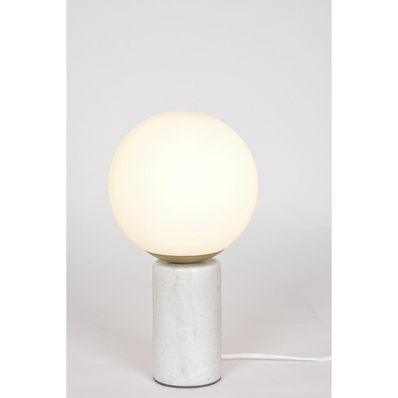 Lampe, chic, marbre blanc, COREP Marbre S