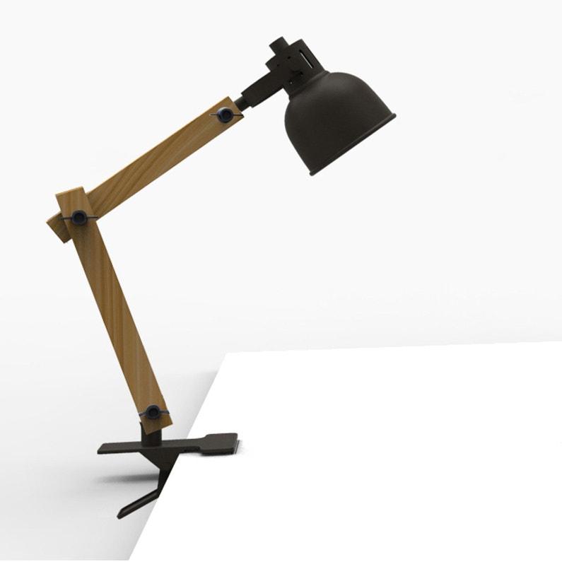 Lampe De Bureau à Pince Industriel Métal Noir Seynave Nomade