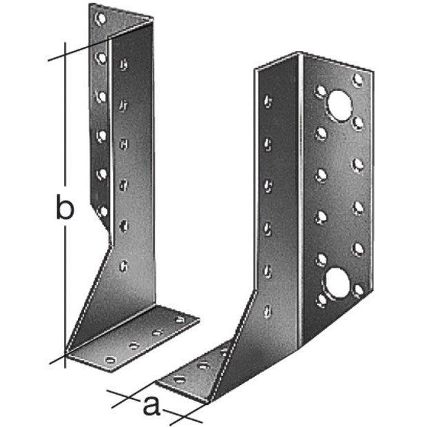 Support de poteau gauche variable Galvanisé GAH ALBERTS, 25x140x40 mm