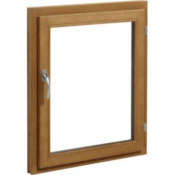 Fenêtre bois 1 vantail ouvrant à la française H.95 x l.60 cm