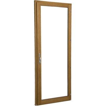 Porte-fenêtre bois 1 vantail ouvrant à la française H.205 x l.80 cm