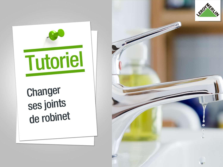 Changer les joints d 39 un robinet leroy merlin - Comment changer un joint de robinet ...