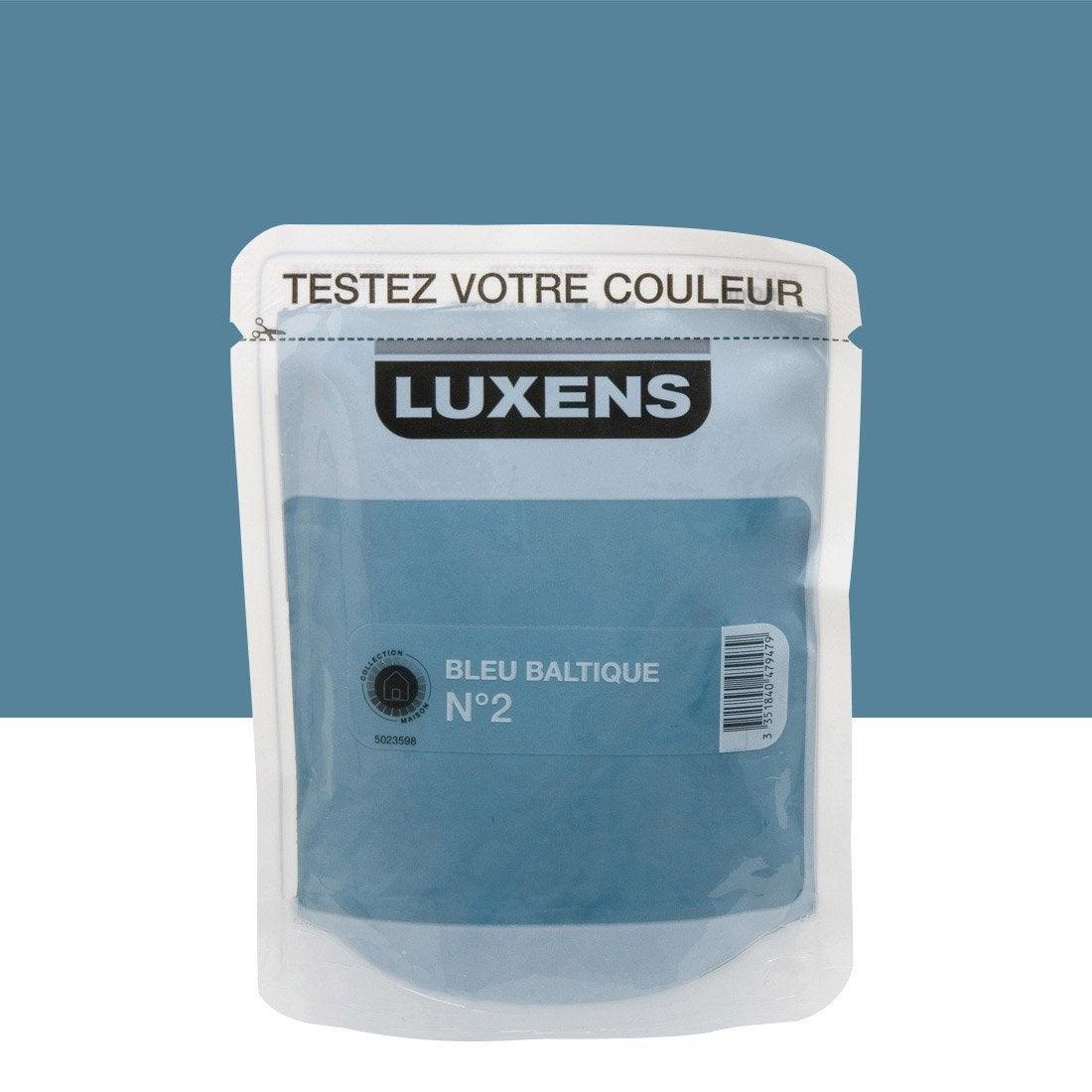 Testeur Peinture Bleu Baltique 2 Satin Luxens Couleurs Int Rieures