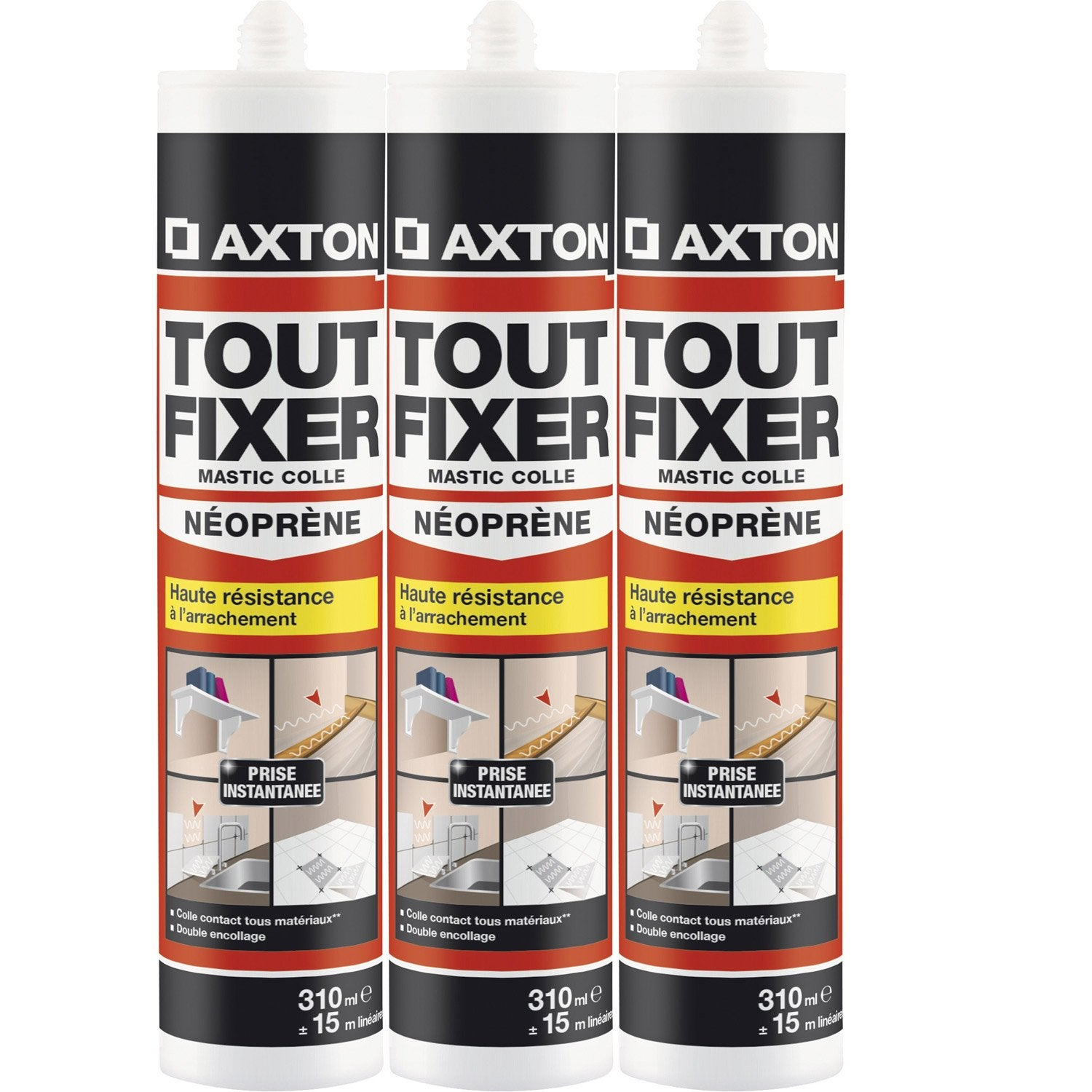 colle n opr ne mastic tout fixer axton 310 ml leroy merlin. Black Bedroom Furniture Sets. Home Design Ideas