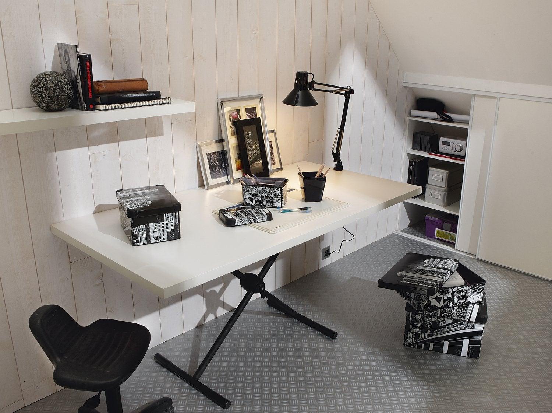 bureau treteau design view in gallery with bureau treteau. Black Bedroom Furniture Sets. Home Design Ideas