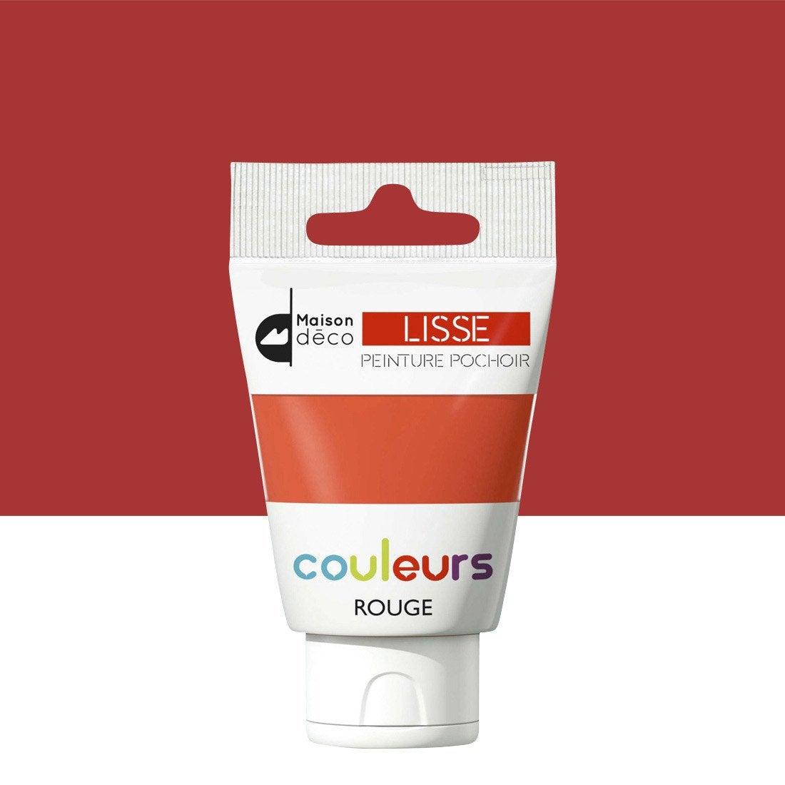 Peinture Pochoirs Rouge Satin MAISON DECO Peinture Pochoir Couleur 0.06 L
