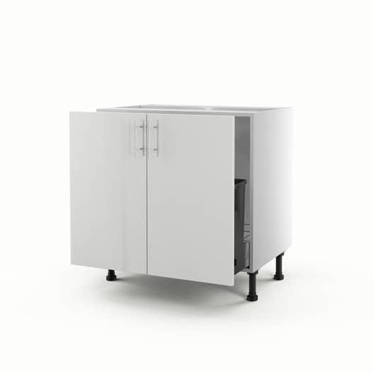 meuble de cuisine sous vier blanc 2 portes rio x l. Black Bedroom Furniture Sets. Home Design Ideas