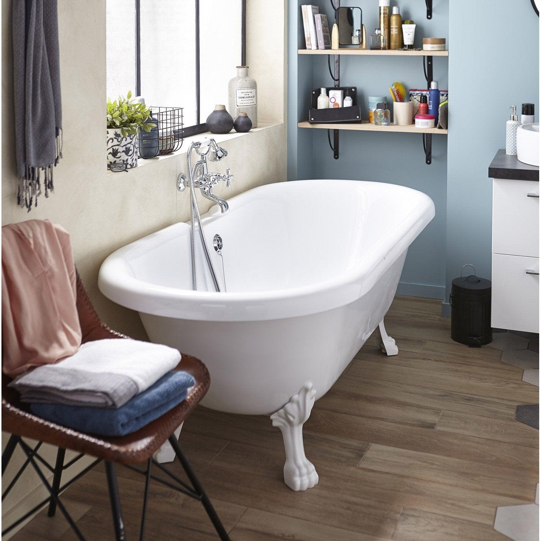 baignoire lot ovale cm blanc charleston leroy merlin. Black Bedroom Furniture Sets. Home Design Ideas