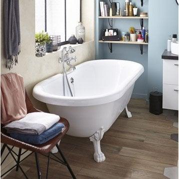 Baignoire lot salle de bains au meilleur prix leroy for Baignoire sur pied 150 cm