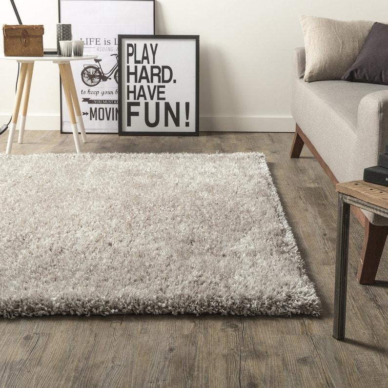 Un tapis pour habiller votre salon leroy merlin - Tapis rond pour salon ...
