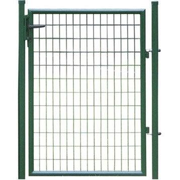 Portillon Soudé Eco vert H.1.8 x L.1m, maille 100x50mm