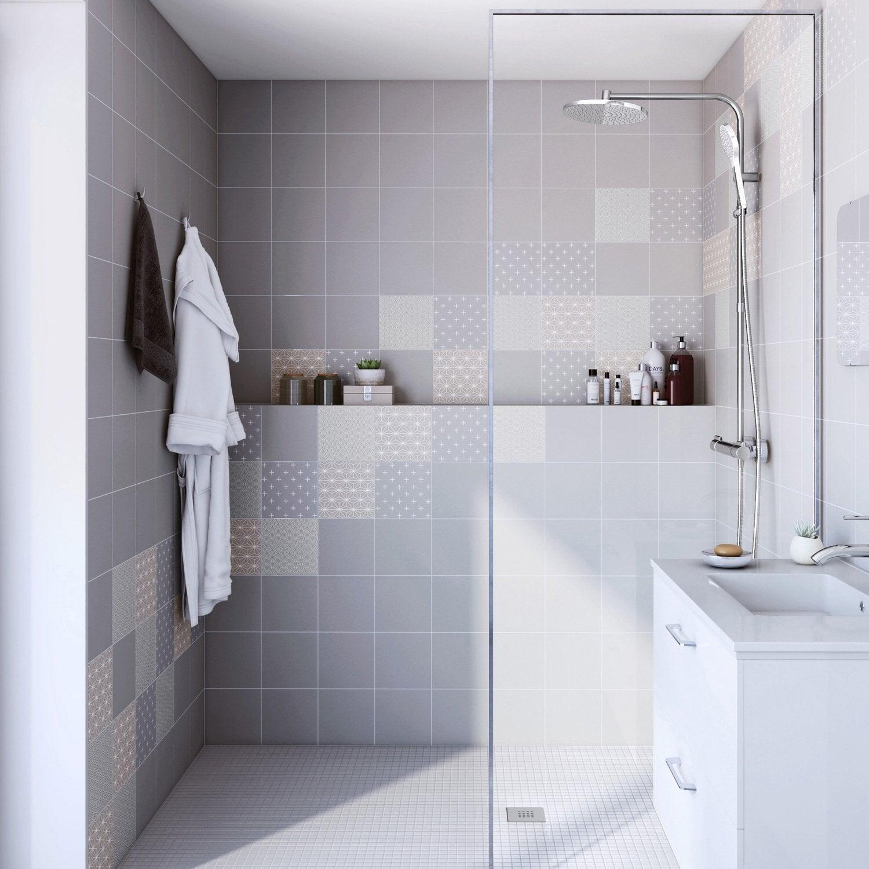 Des motifs art deco pour le carrelage de salle de bains   Leroy Merlin