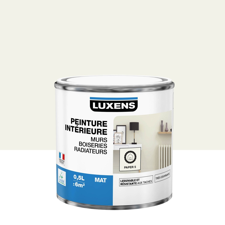 Peinture mur, boiserie, radiateur Multisupports LUXENS, paper 5, 0.5 l, mat