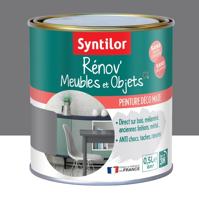 Peinture Pour Meuble Objet Et Porte Mat Syntilor Rénov Gris Urbain 0 5 L
