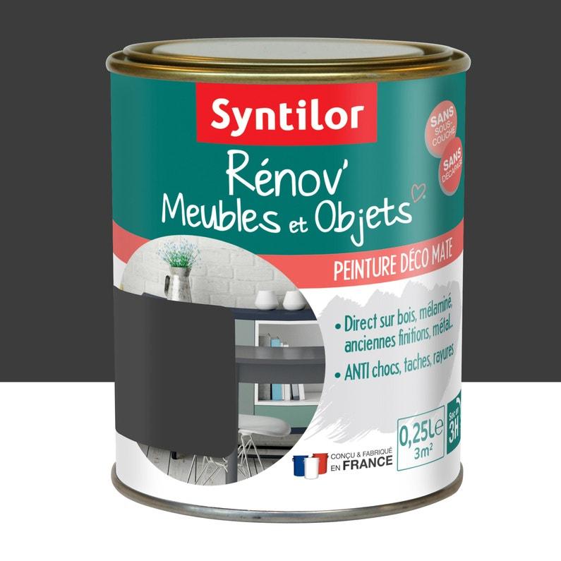 Peinture Pour Meuble Objet Et Porte Mat Syntilor Renov Noir 0 25 L