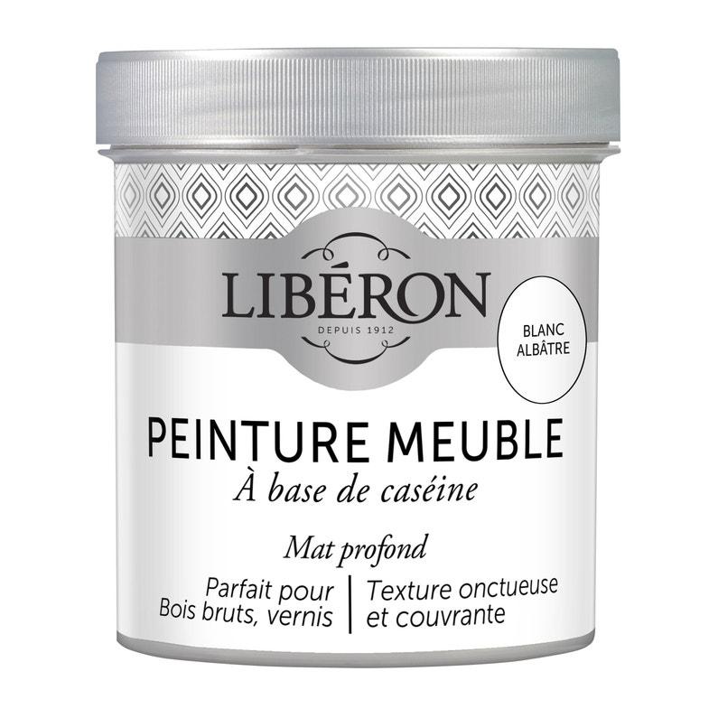 Peinture Pour Meuble Objet Et Porte Mat Liberon Caséine Blanc Albâtre 0 5l