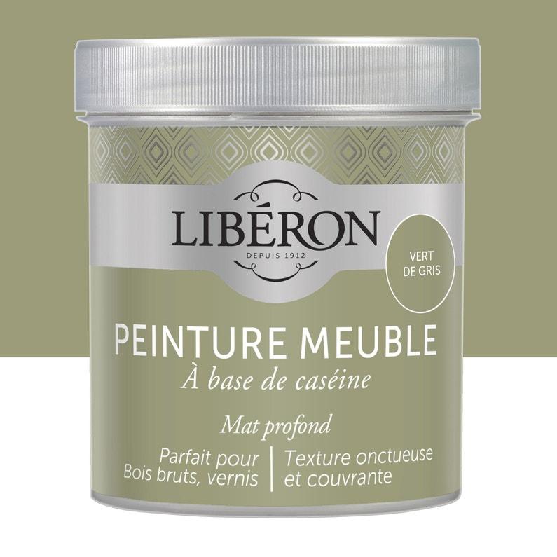 Peinture Pour Meuble Objet Et Porte Mat Liberon Caseine Vert De Gris 0 5l