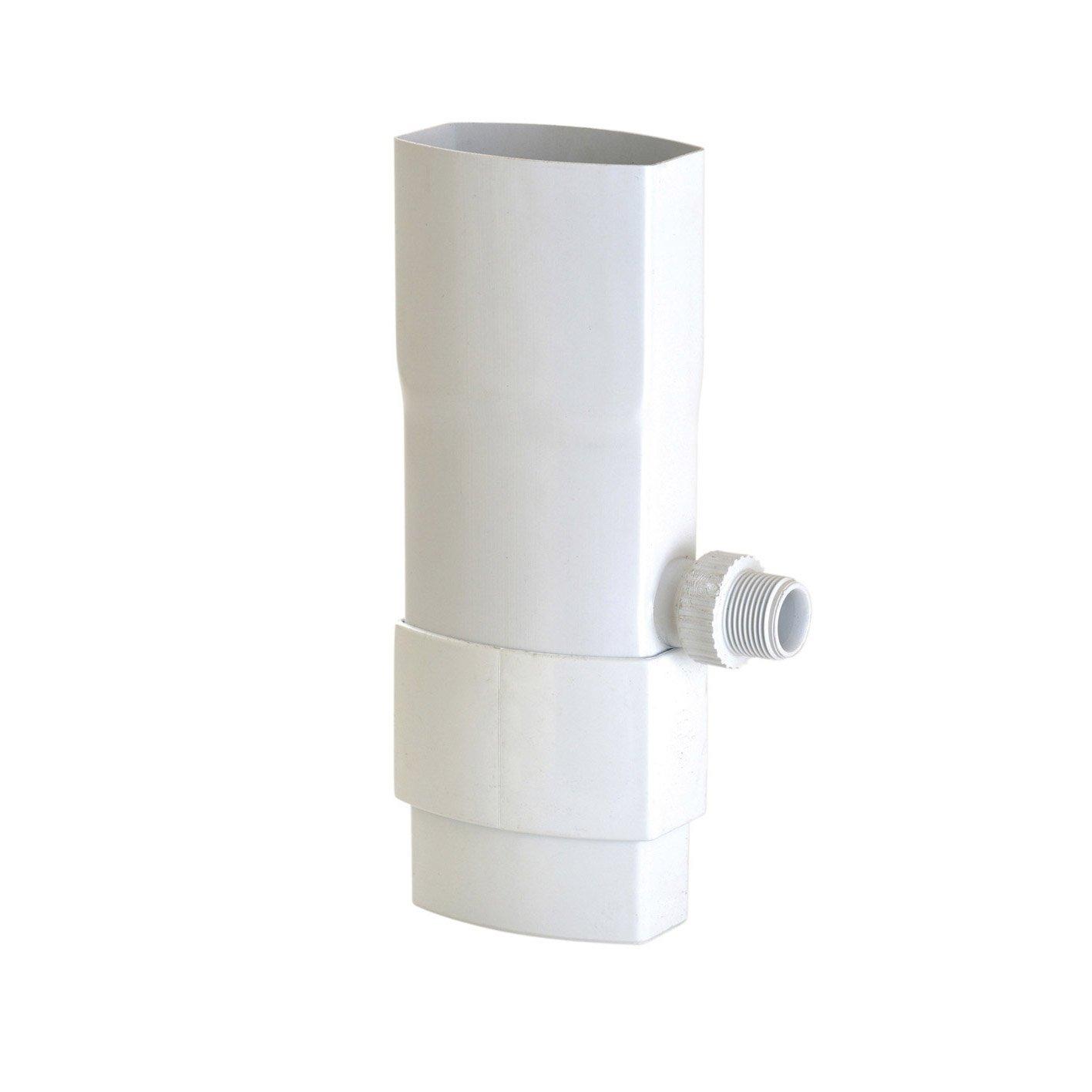 collecteur d 39 eau pvc blanc girpi d cm mm. Black Bedroom Furniture Sets. Home Design Ideas