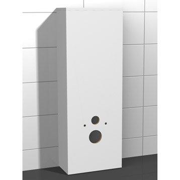 Meuble coffrage et rangement wc meuble toilette leroy for Meuble wc leroy merlin