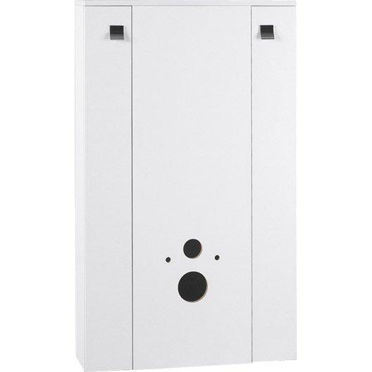 meuble pour wc suspendu x x cm blanc coin d 39 o leroy merlin. Black Bedroom Furniture Sets. Home Design Ideas