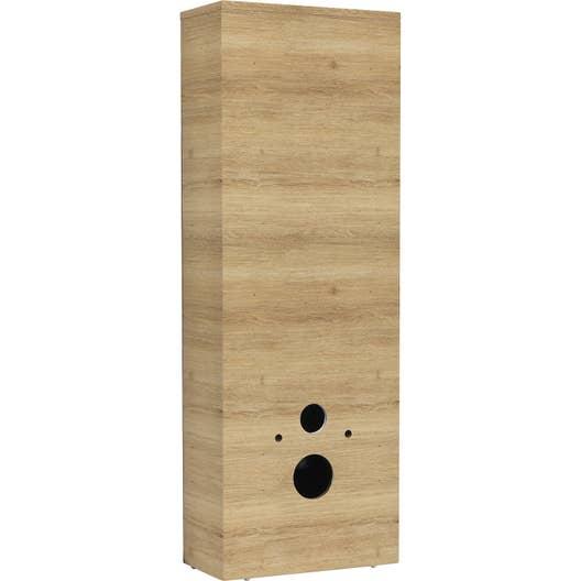 coffrage pour wc suspendu cm imitation ch ne sensea remix leroy merlin. Black Bedroom Furniture Sets. Home Design Ideas