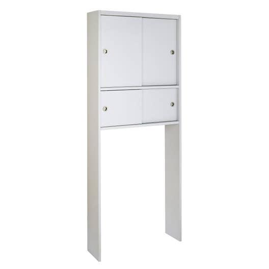 meuble pour wc poser x x cm blanc sensea remix leroy merlin. Black Bedroom Furniture Sets. Home Design Ideas