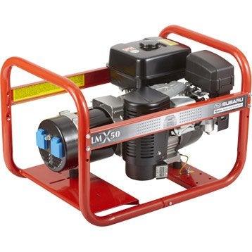 Groupe électrogène essence de chantier WORMS Lmx 50, 3400 W