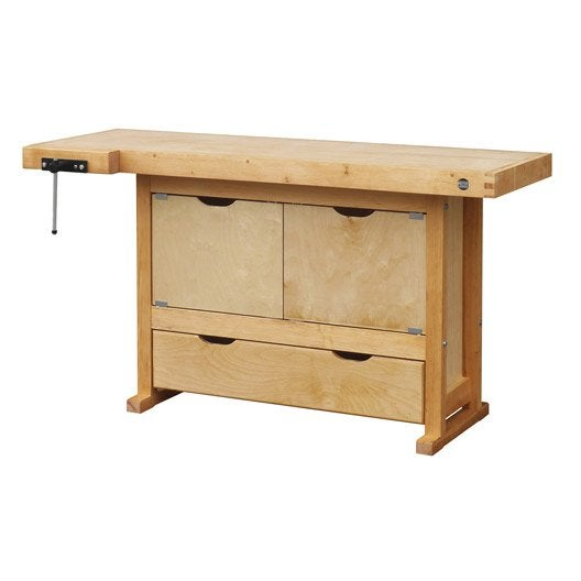 etabli en bois outifrance avec 1 tiroir leroy merlin. Black Bedroom Furniture Sets. Home Design Ideas