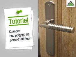 Poser une serrure de porte int rieure leroy merlin - Comment reparer une poignee de porte ...