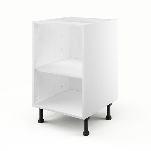caisson de cuisine bas b50 delinia blanc x x p. Black Bedroom Furniture Sets. Home Design Ideas