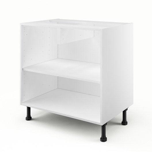 caisson de cuisine bas b80 delinia blanc x x cm leroy merlin. Black Bedroom Furniture Sets. Home Design Ideas