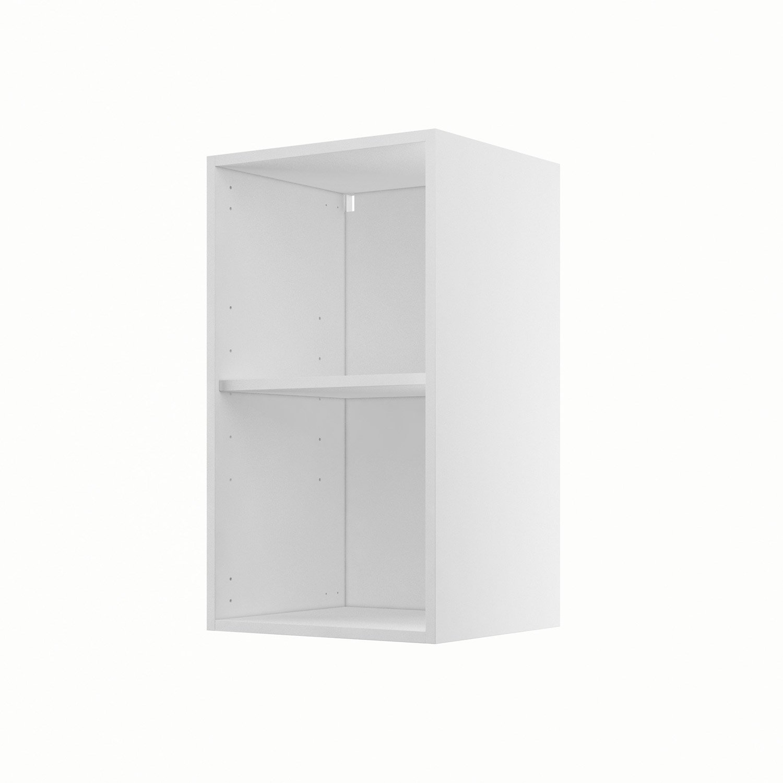 caisson de cuisine haut h4070 delinia blanc l40 x h70 x p35 cm
