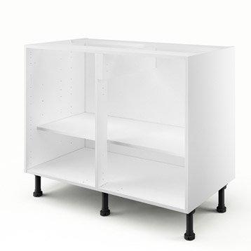 Caisson de cuisine bas B100/AB100 DELINIA blanc L.100 x H.85 x P.56 cm