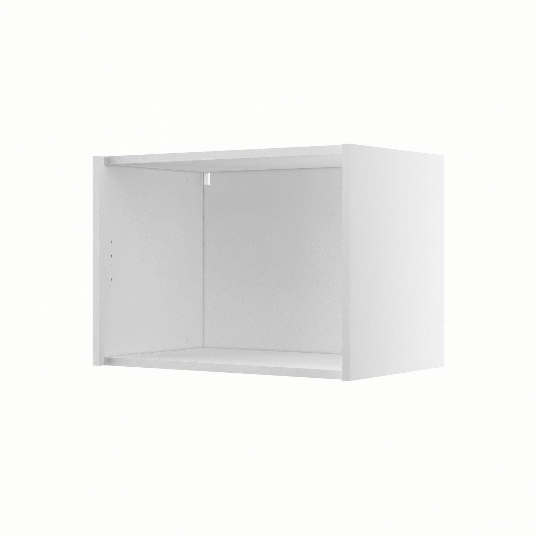 caisson de cuisine haut sur hotte h60 42 delinia blanc x x cm leroy merlin. Black Bedroom Furniture Sets. Home Design Ideas
